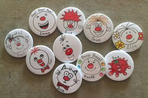 Red Nose Day Badges